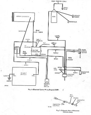 garden tractor wiring diagram parts list manual parts book