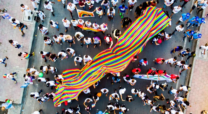Pride parade on road in Dili Port, Díli, Timor-Leste
