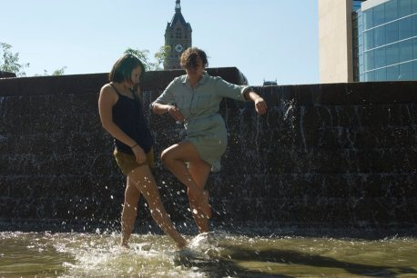 Dancers: Katherine Adler & Samantha Matsukawa Photographer: Keir Lee-Barber