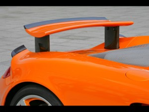 2007 TechArt Porsche Carrera GT Rear Wing Raised
