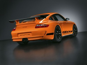 2008 Porsche 911 (997) GT3 RS Rear angle view