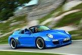 2010 blue Porsche 911 Speedster Side angle view