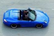 2010 blue Porsche 911 Speedster Top view