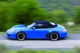 2010 blue Porsche 911 Speedster Side view