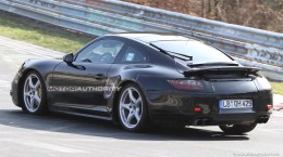 2012 Porsche 911 (991) spy shots Side angle view
