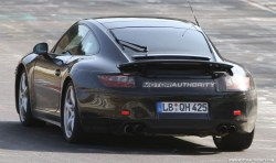 2012 Porsche 911 (991) spy shots Rear angle view