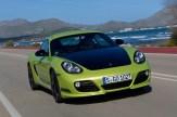 Peridot Metallic 2011 Porsche Cayman R Front angle view
