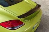 Peridot Metallic 2011 Porsche Cayman R Rear spoiler
