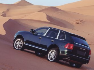 Porsche Cayenne 2003 wallpaper Rear side angle view