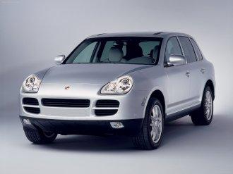 Porsche Cayenne 2004 1600x1200 wallpaper Front angle view
