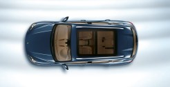 Blue Metallic Porsche Cayenne Diesel 2011 3000x1560 wallpaper Top view