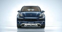 Blue Metallic Porsche Cayenne Diesel 2011 3000x1560 wallpaper Front view