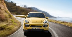 Yellow Porsche Cayenne S 2011 3000x1560 wallpaper Front view