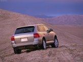 Porsche Cayenne Turbo 2004 1600x1200 wallpaper Rear angle view