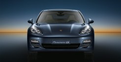 Aqua Blue Metallic Porsche Panamera 4S 2011 wallpaper Front view