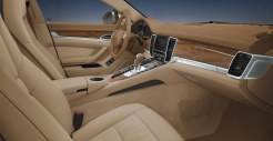 Cognac Metallic Porsche Panamera 4 2011 wallpaper Interior