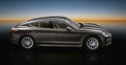Carbon Grey Metallic Porsche Panamera S 2011 wallpaper Side view