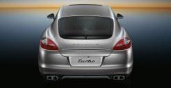GT Silver Metallic Porsche Panamera Turbo 2011 wallpaper Rear view