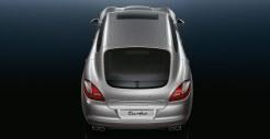 GT Silver Metallic Porsche Panamera Turbo 2011 wallpaper Rear top view
