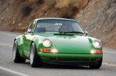 2011 Singer Racing Green Porsche 911 Front view