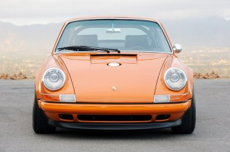 Singer Racing Orange Porsche 911 Front view