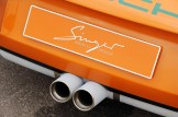 Singer Racing Orange Porsche 911 Exhaust
