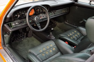 Singer Racing Orange Porsche 911 Interior