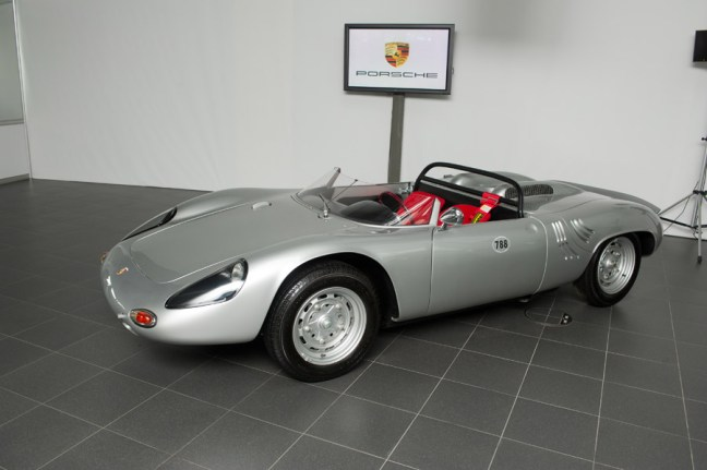 1961 Porsche 718/8 RS Spyder in Moscow Side angle view