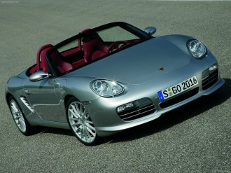 2008 Porsche Boxster RS 60 Spyder wallpaper Front angle view