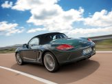 2009 Porsche Racing Green Metallic Boxster wallpaper Rear angle side view
