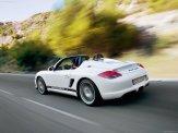 2010 White Porsche Boxster Spyder wallpaper Rear angle side view