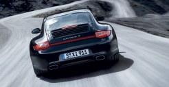 2011 Black Porsche 911 Carrera 4 Wallpaper Rear view