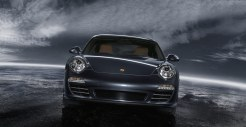 2011 Black Porsche 911 Carrera 4 Wallpaper Front view