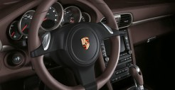 2011 Black Porsche 911 Carrera 4 Wallpaper Interior Steering wheel