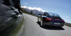2011 Black Porsche 911 Targa 4S Wallpaper Rear angle view