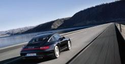 2011 Black Porsche 911 Targa 4S Wallpaper Rear angle side view