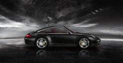 2011 Black Porsche 911 Targa 4S Wallpaper Side view