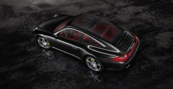 2011 Black Porsche 911 Targa 4S Wallpaper Side angle top view