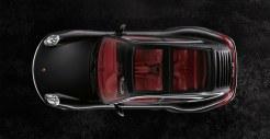 2011 Black Porsche 911 Targa 4S Wallpaper Top view