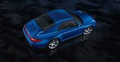 2011 Blue Porsche 911 Carrera 4S Cabriolet Wallpaper Side angle top view