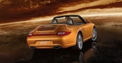 2011 Gold Porsche 911 Carrera 4 Cabriolet Wallpaper Rear angle side view