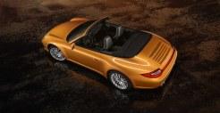2011 Gold Porsche 911 Carrera 4 Cabriolet Wallpaper Rear angle top view
