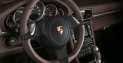 2011 Gold Porsche 911 Carrera 4 Cabriolet Wallpaper Interior Steering wheel