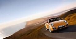 2011 Gold Porsche 911 Carrera 4 Cabriolet Wallpaper Front angle view