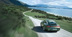 2011 Green Porsche 911 Targa 4 Wallpaper Rear angle view