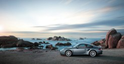 2011 Grey Porsche 911 Turbo Wallpaper Side view