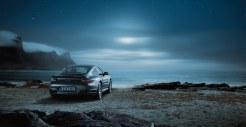 2011 Grey Porsche 911 Turbo Wallpaper Rear angle view