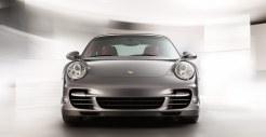 2011 Grey Porsche 911 Turbo Wallpaper Front view