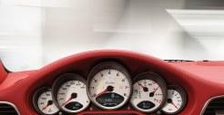 2011 Grey Porsche 911 Turbo Wallpaper Red Interior Dashboard
