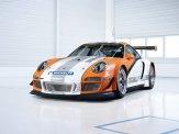 2011 Orange Porsche 911 GT3 R Hybrid Wallpaper Front angle view